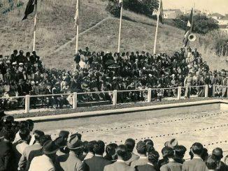 1941- Inauguração da piscina de 16 metros. Crédito da foto: Clube Nacional de Natação